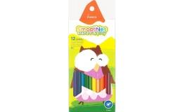 Олівці кольорові Marco Smoothies 12 кольорів
