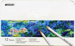 Олівці кольорові Marco Raffine 12 кольорів в металі
